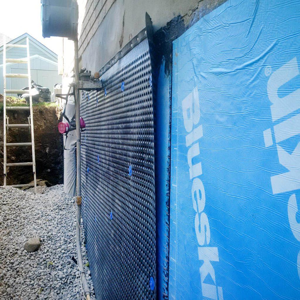Exterior Waterproofing Weeping Tile