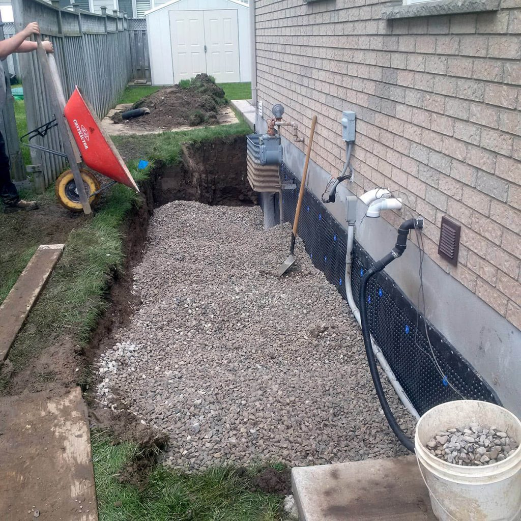Exterior Waterproofing Gravel Fill
