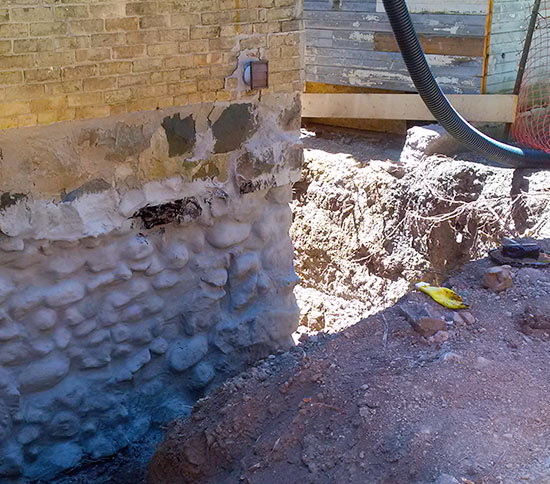 Exterior Waterproofing Services Wal-Tech Drainage